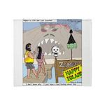 Zombie Island Throw Blanket