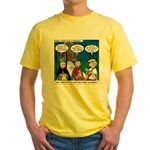 Zombie Trick-or-Treat Yellow T-Shirt