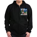 Zombie Trick-or-Treat Zip Hoodie (dark)