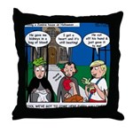 Zombie Trick-or-Treat Throw Pillow