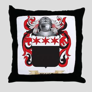 Preist Coat of Arms (Family Crest) Throw Pillow