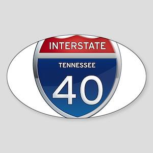 Interstate 40 Sticker