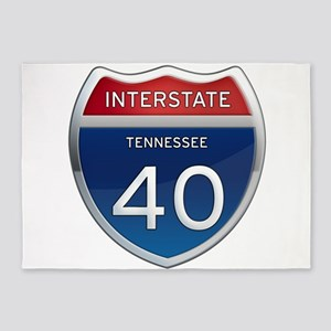 Interstate 40 5'x7'Area Rug