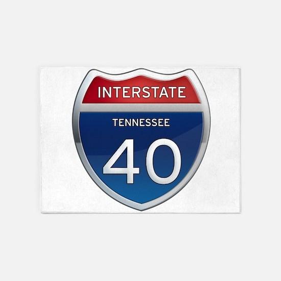 Interstate 40 5'x7'Area Rug