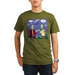 Zombie Vegan Organic Men's T-Shirt (dark)
