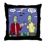 Zombie Vegan Throw Pillow