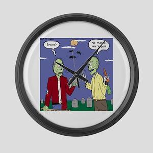 Zombie Vegan Large Wall Clock