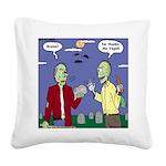 Zombie Vegan Square Canvas Pillow