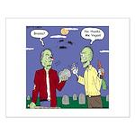 Zombie Vegan Small Poster