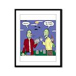 Zombie Vegan Framed Panel Print