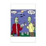 Zombie Vegan Mini Poster Print