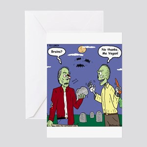 Zombie Vegan Greeting Card