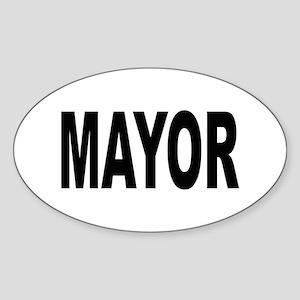 Mayor Oval Sticker