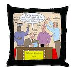 Zombie Improv Throw Pillow