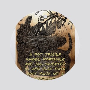 A Pot Trader - Igbo Proverb Round Ornament