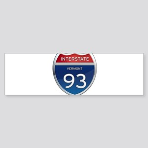 Interstate 93 Bumper Sticker