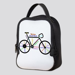 Bike made up of words to motivate Neoprene Lunch B