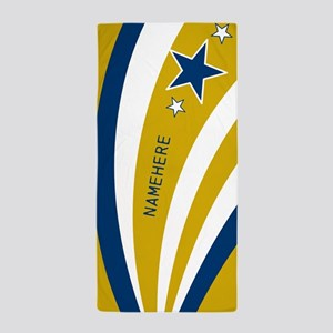 Customized Stars and Stripes Beach Towel
