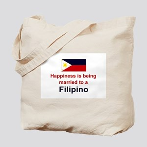Happily Married To A Filipino Tote Bag