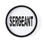Sergeant Wall Clock