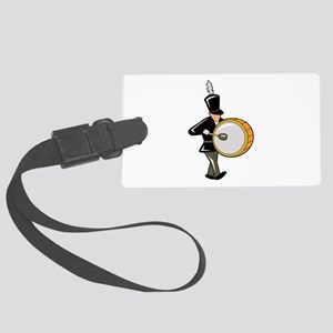 bass drummer marching black abstract Luggage Tag