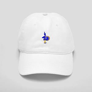 bass drummer marching blue abstract Baseball Cap