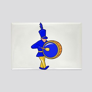 bass drummer marching blue abstract Magnets