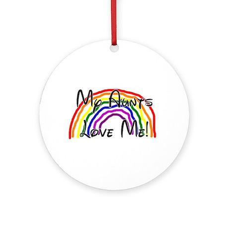 Rainbow Love Aunts Ornament (Round)