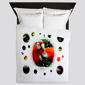 Ara macao kiss love joy 5 Queen Duvet