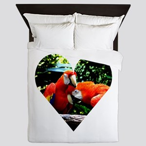 Ara macao kiss love joy 4 Queen Duvet