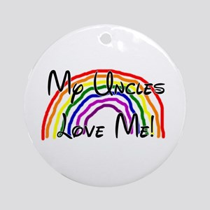 Rainbow Love Uncles Ornament (Round)