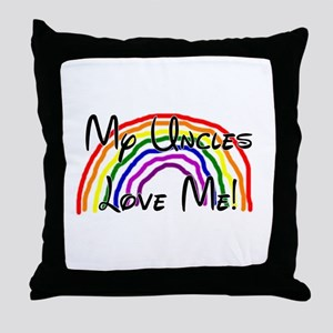 Rainbow Love Uncles Throw Pillow