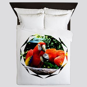 Ara macao kiss love joy 1 Queen Duvet