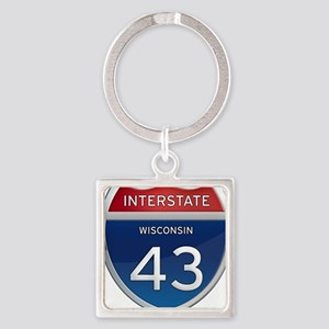 Interstate 43 Keychains