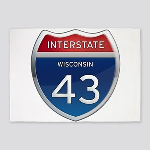 Interstate 43 5'x7'Area Rug