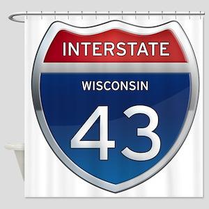 Interstate 43 Shower Curtain