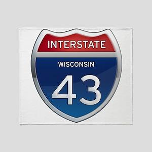 Interstate 43 Throw Blanket