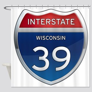 Interstate 39 Shower Curtain