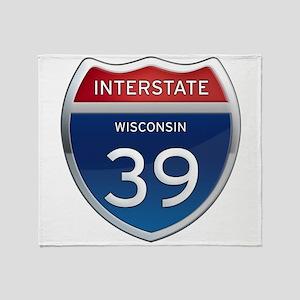 Interstate 39 Throw Blanket