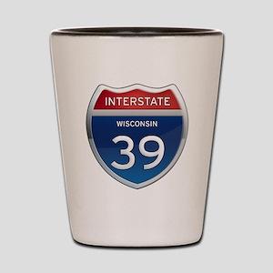 Interstate 39 Shot Glass