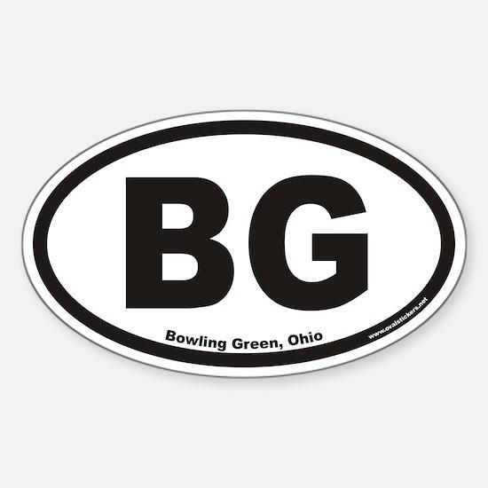 Bowling Green BG Euro Oval Decal