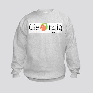 Georgia Peach Kids Sweatshirt