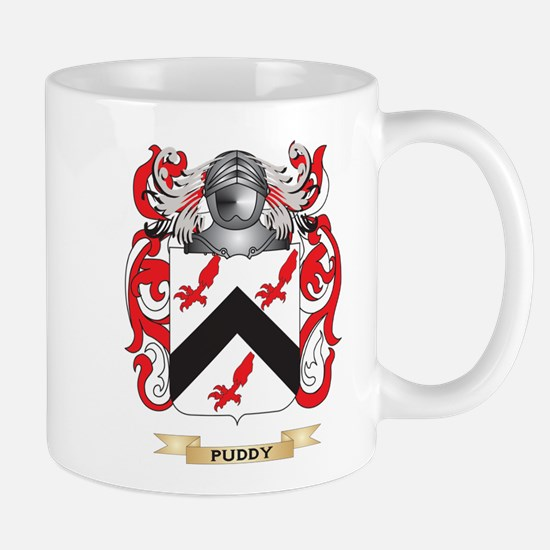 Puddy Coat of Arms (Family Crest) Mugs
