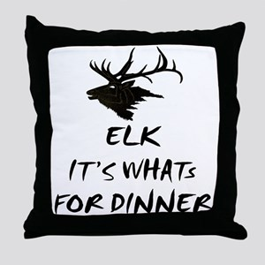 elk its whats for dinner Throw Pillow