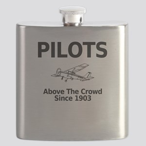 Pilots Above the Crowd Flask