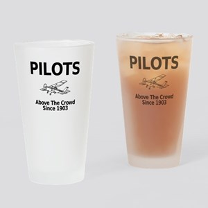 Pilots Above the Crowd Drinking Glass