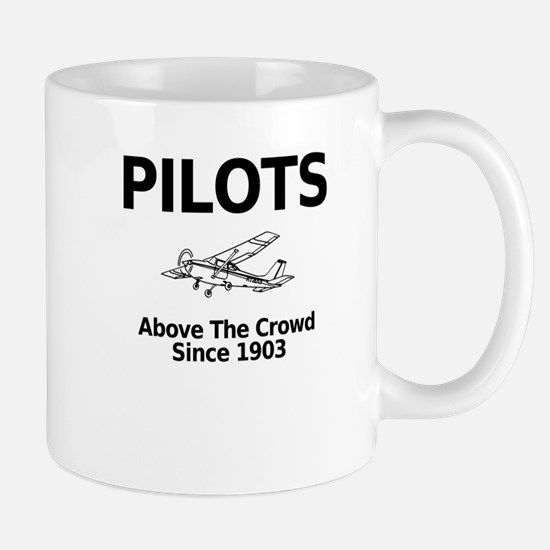 Pilots Above the Crowd Mugs