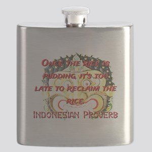 Once The Rice Is Pudding - Indonesian Proverb Flas