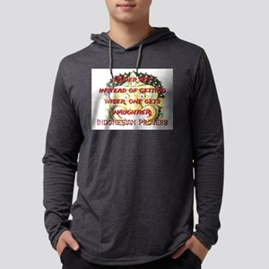 Older But Instead - Indonesian Proverb Mens Hooded