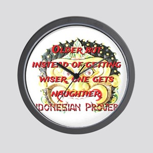 Older But Instead - Indonesian Proverb Wall Clock